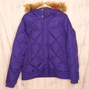 The North Face purple 550 goose down jacket sz L